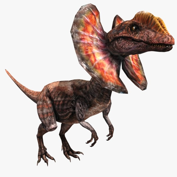 dilophosaurus rigged 3d ma