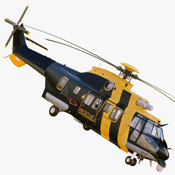 eurocopter as332l2 super puma 3d model