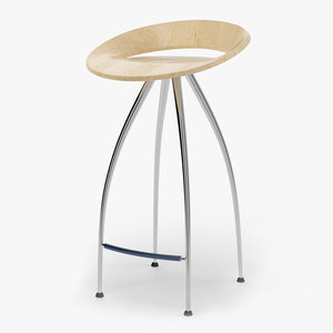 3d lyra stool design magis