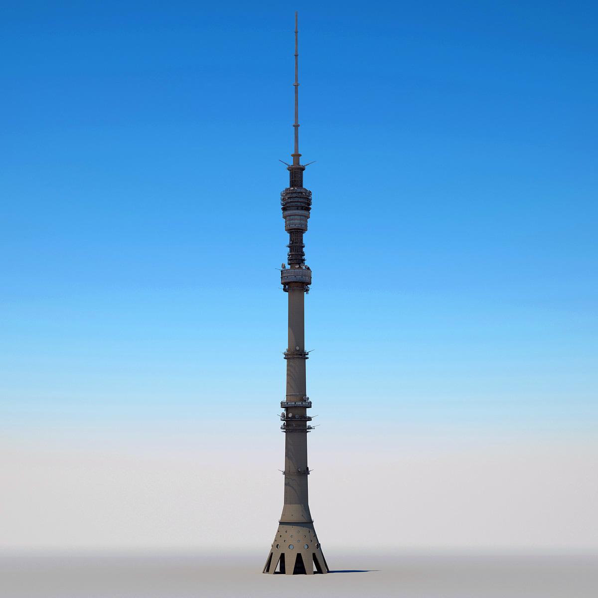 3d ostankino tower model