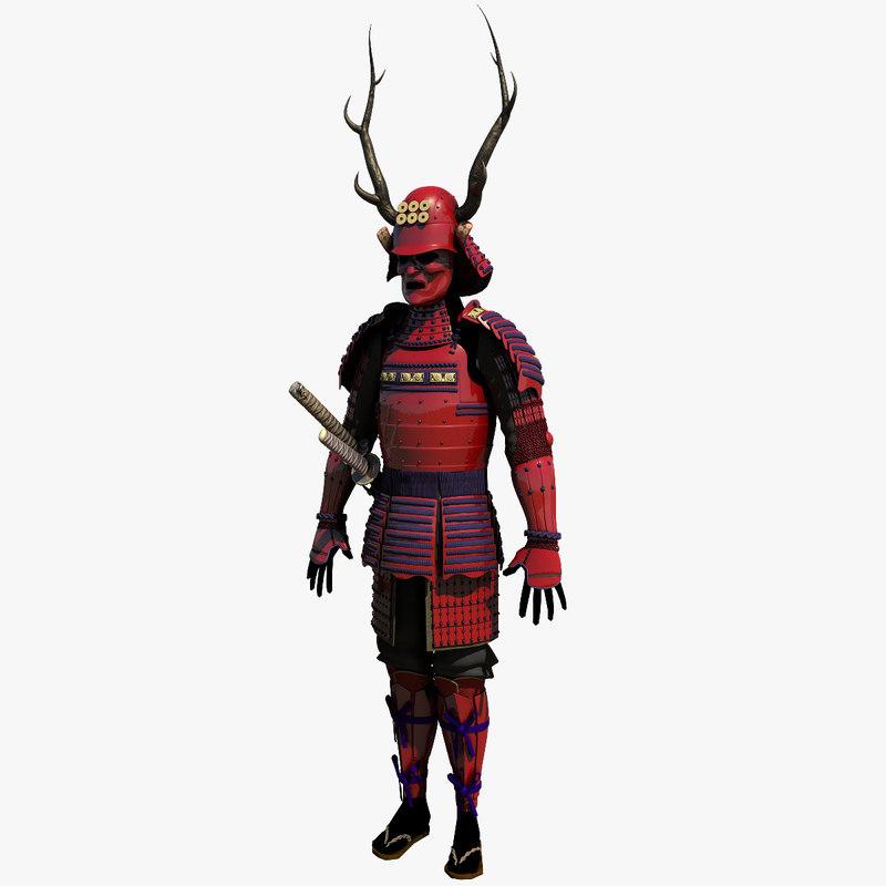 modeled armor 3d obj