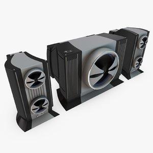 c4d 2 speaker set
