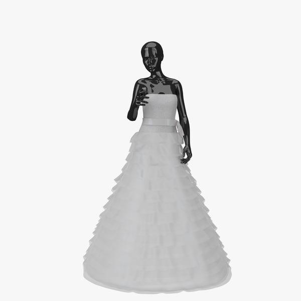 3d model showroom wedding dress