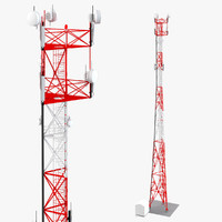 3d telecommunication tower
