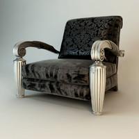 3ds max elledue orpheo armchair