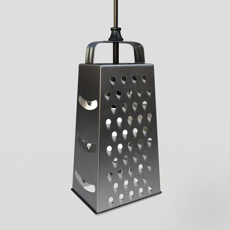 3d cheese grater pendant light model