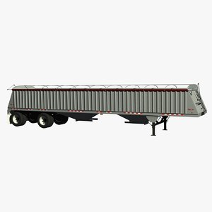 dakota 48ft grain trailer 3d lwo