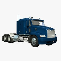 mack vision truck sleeper 3d lwo