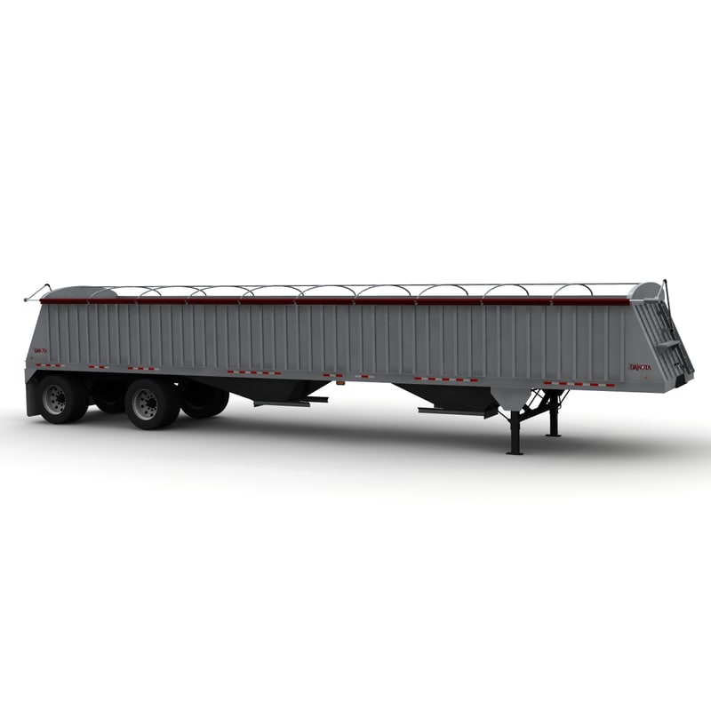 dakota 48ft grain trailer 3d lwo