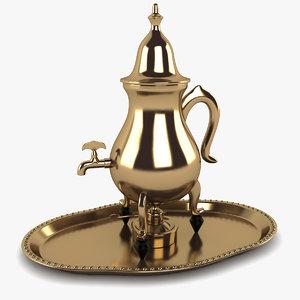 3ds turkish tea tray