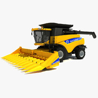 3d new holland combine