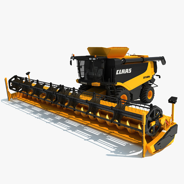 3ds max claas lexion combine harvester