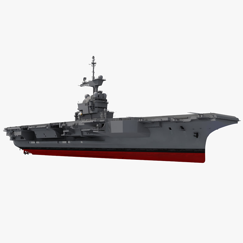 3d model french aircraft carrier charles