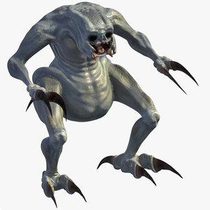 monster creature 3d max