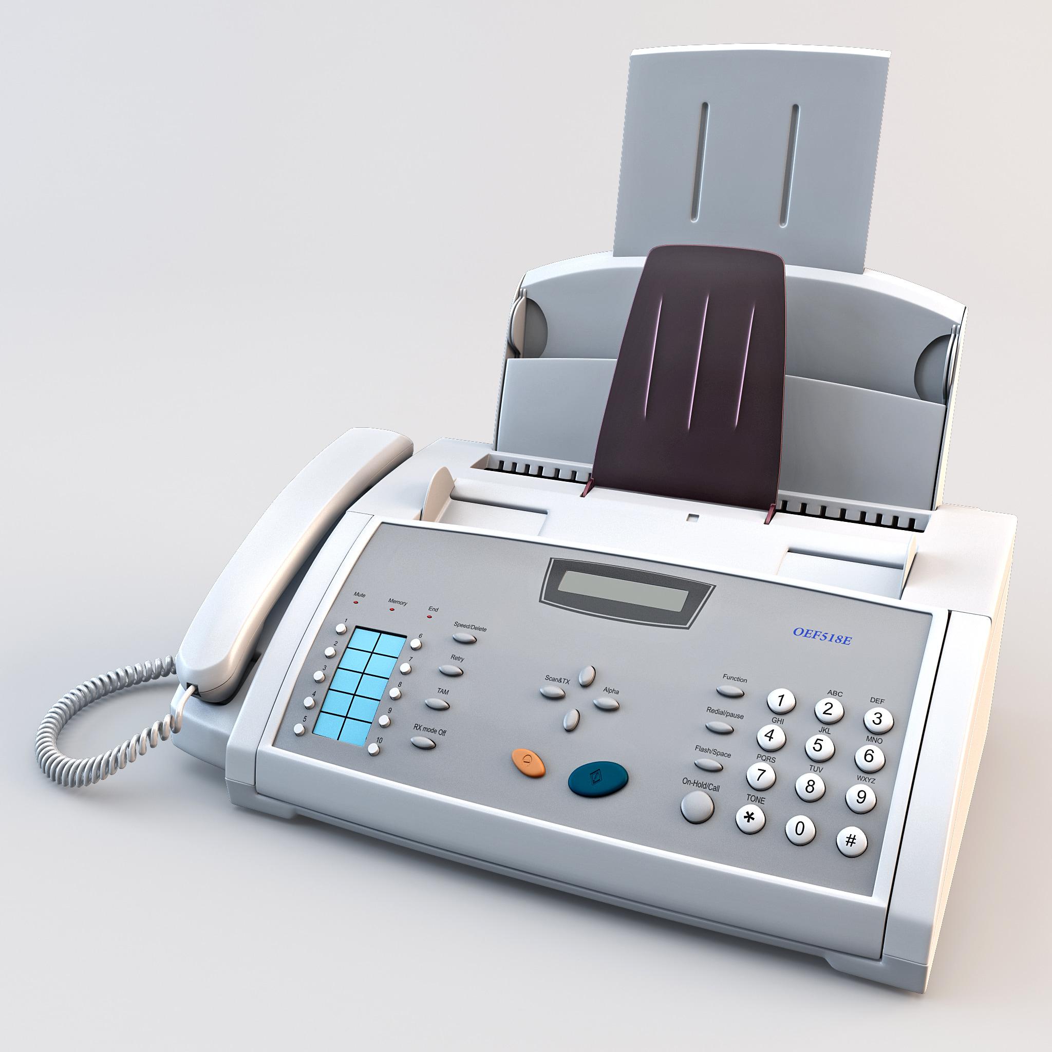 fax machine oef518e 3d max