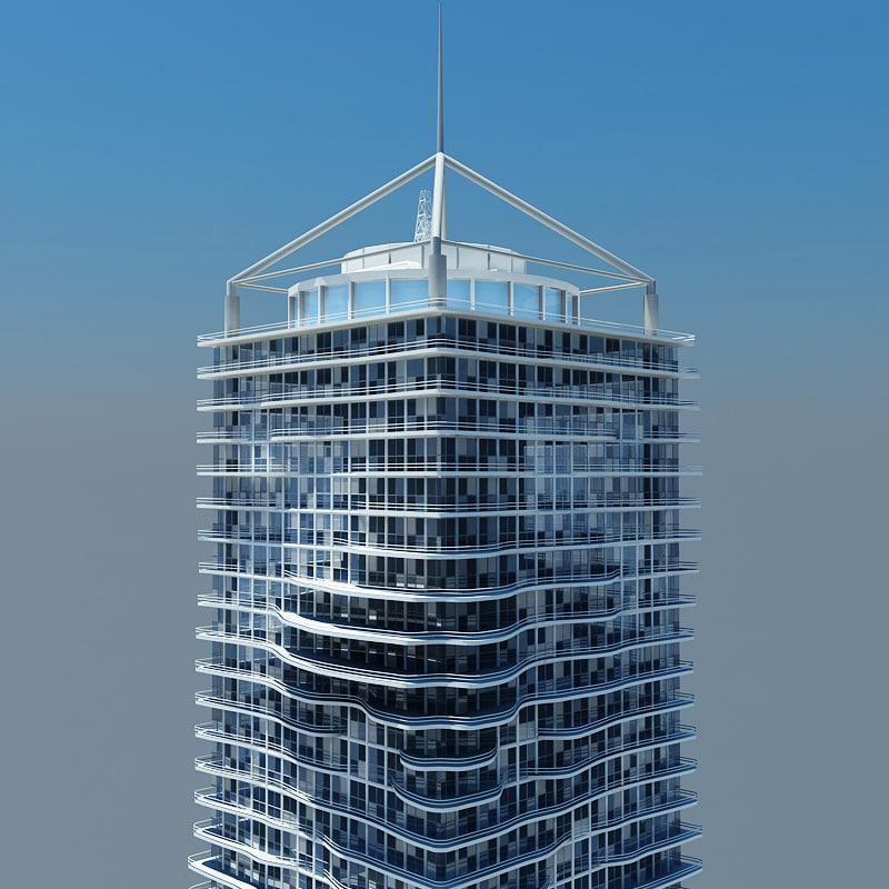3d modern architectural model