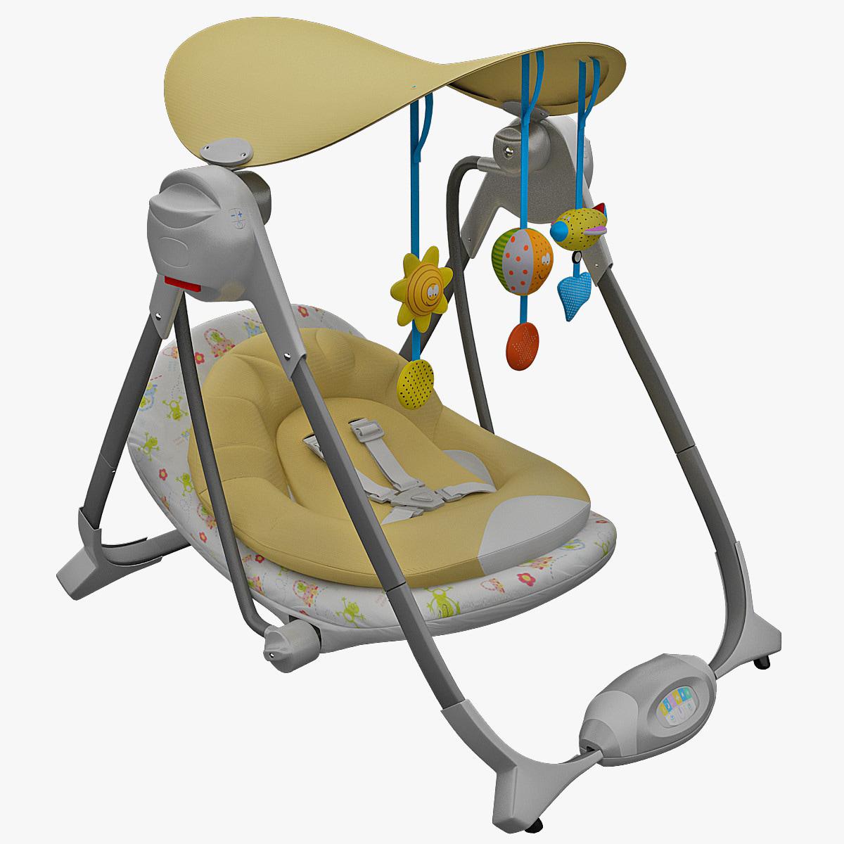 3d obj bouncy chair chicco polly