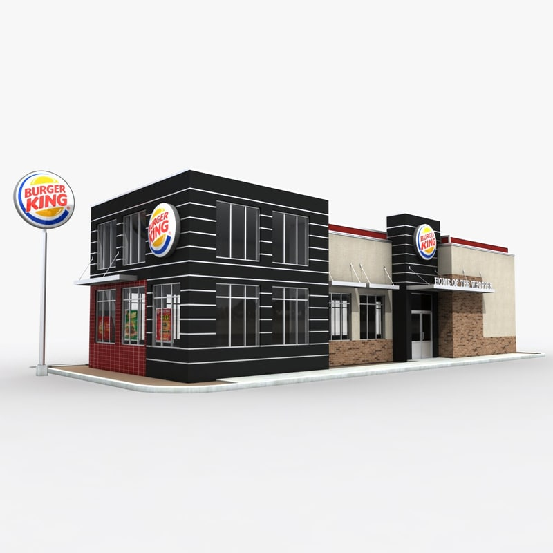 3d Burger King Restaurant Building