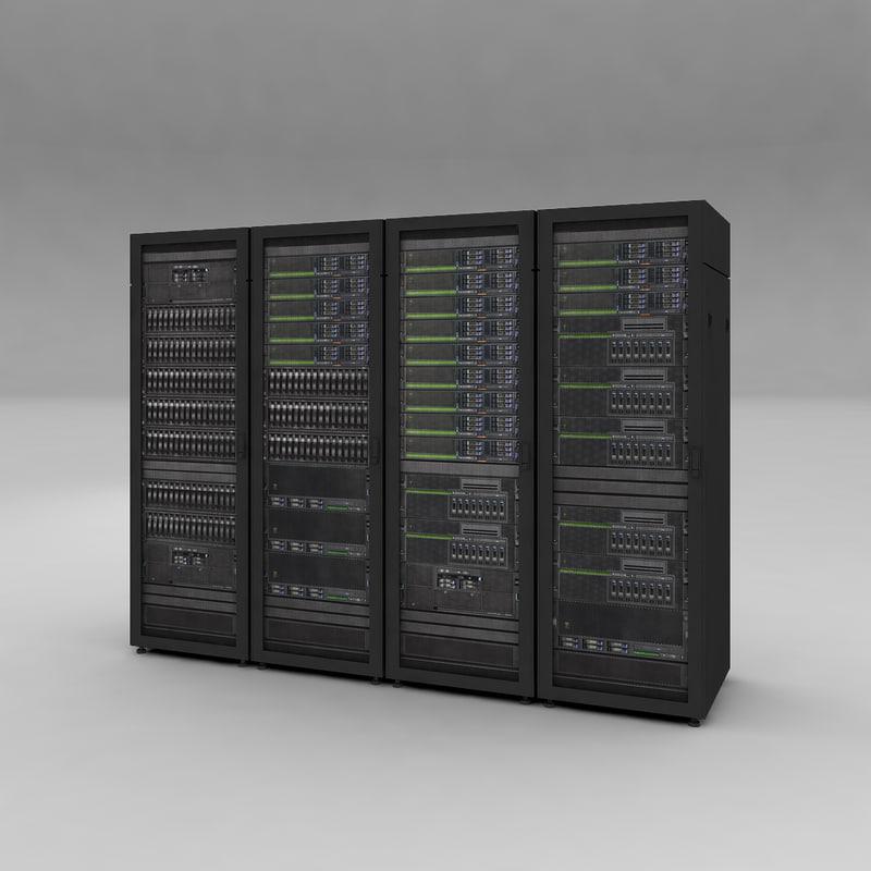 server racks - ibm 3d model