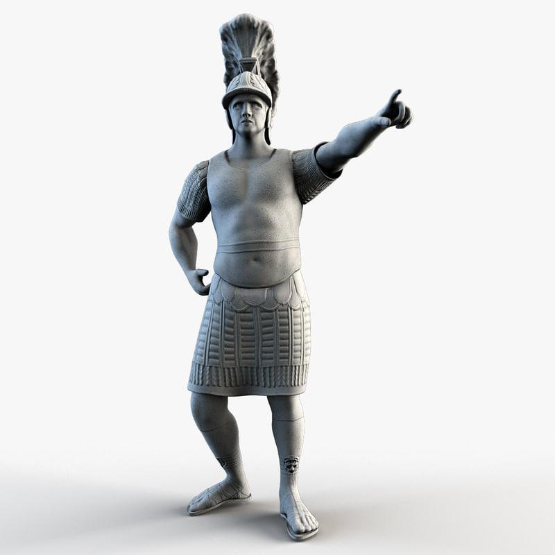 centurion statue 3d obj