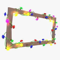 3d plastic christmas lights model