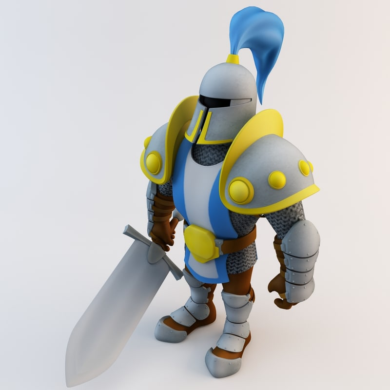 knight character games 3d model