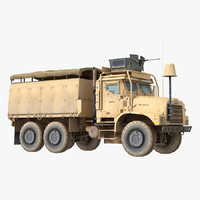 oshkosh mtvr military truck 3d max
