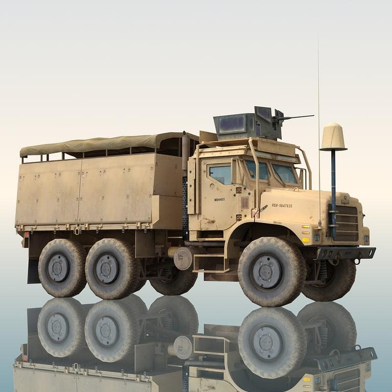 oshkosh mtvr military truck 3d max