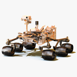 nasa mars rover curiosity 3d model