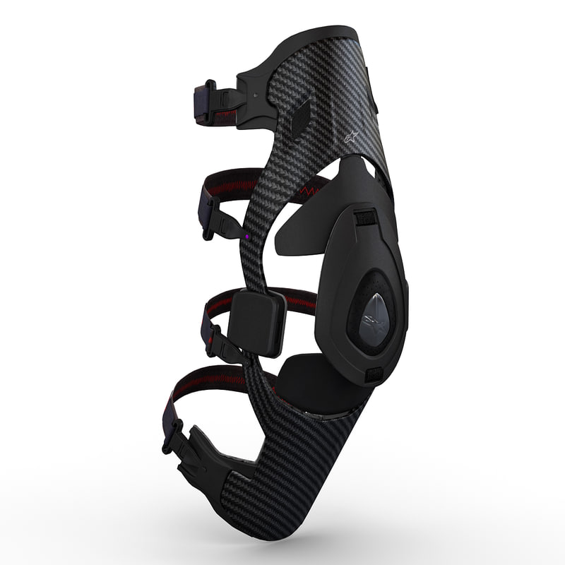 motorcycle alpinestars b2 knee 3d model