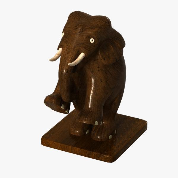 free elephant sculpture 3d model