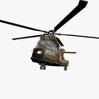 3d model super puma helicopter