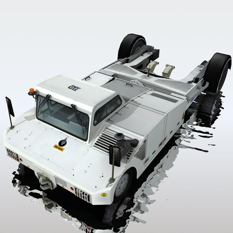 3d model tpx-200-s towbarless aircraft tractors