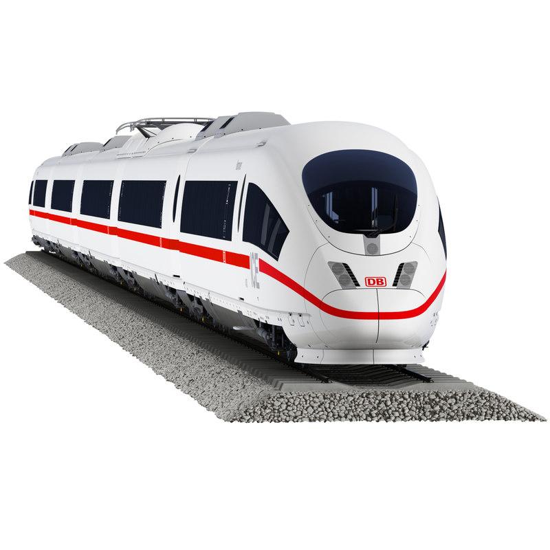 ice 3 passenger train 3d model