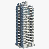 3d model high-rise construction