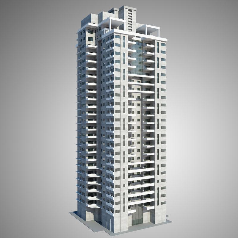 3d model high-rise construction