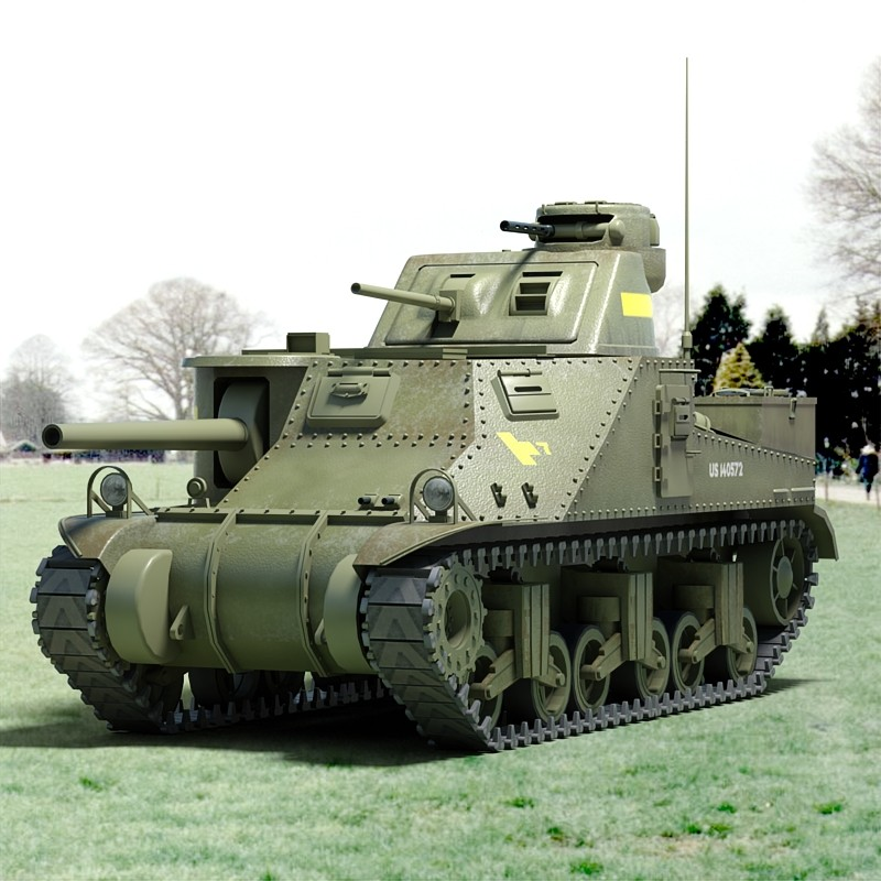 ww2 m3 lee tank tracks 3d model