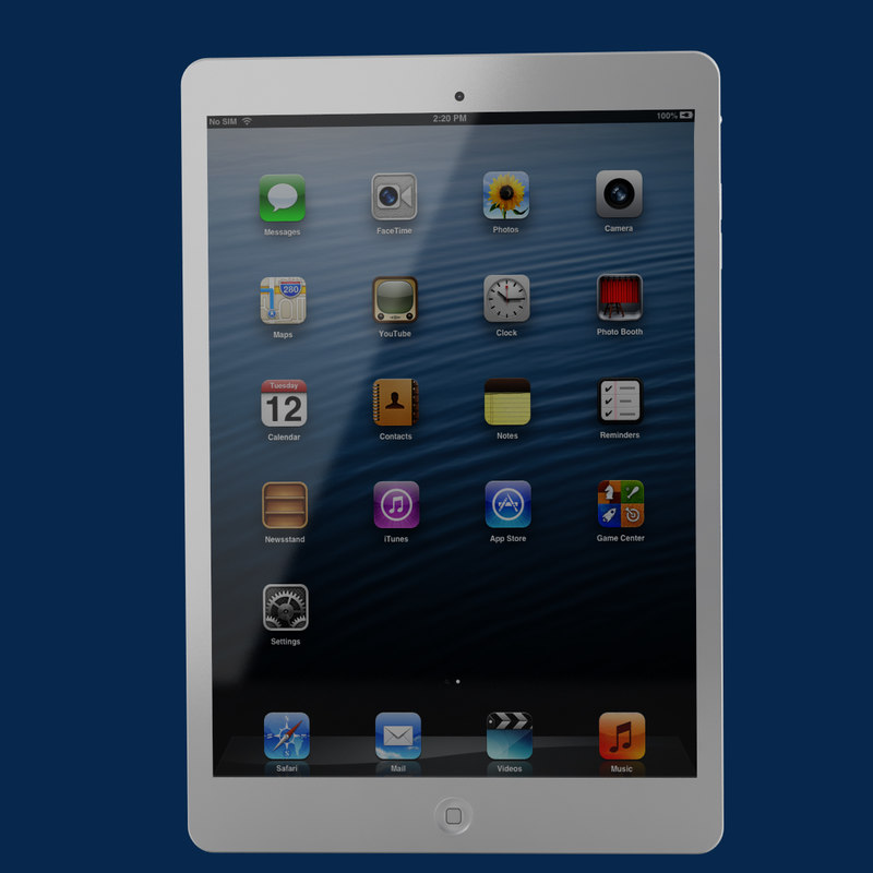 apple ipad mini 3d model
