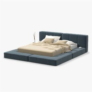 3dsmax platform bed soft