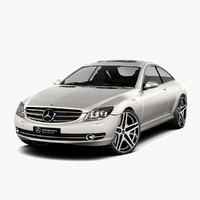 3d model - mercedes-benz cl500 2007