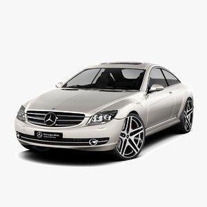 3d model - mercedes-benz cl500 2007