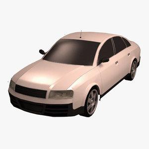 standard sport car 3d 3ds