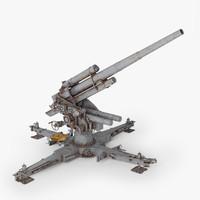 3d model flak 36