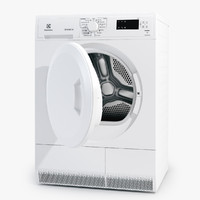 washing machine electrolux 3d obj