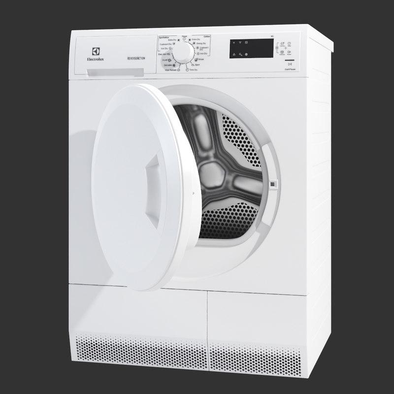 washing machine electrolux 3d obj