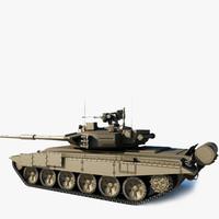 T-90 Tank  Low Poly
