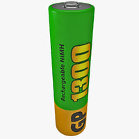 3d model gp aaa rechargeable battery