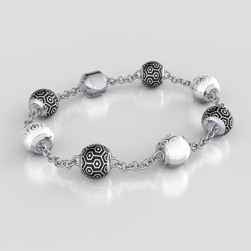 pearl bracelet 3d model