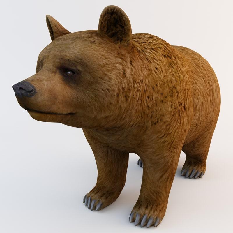 c4d brown bear