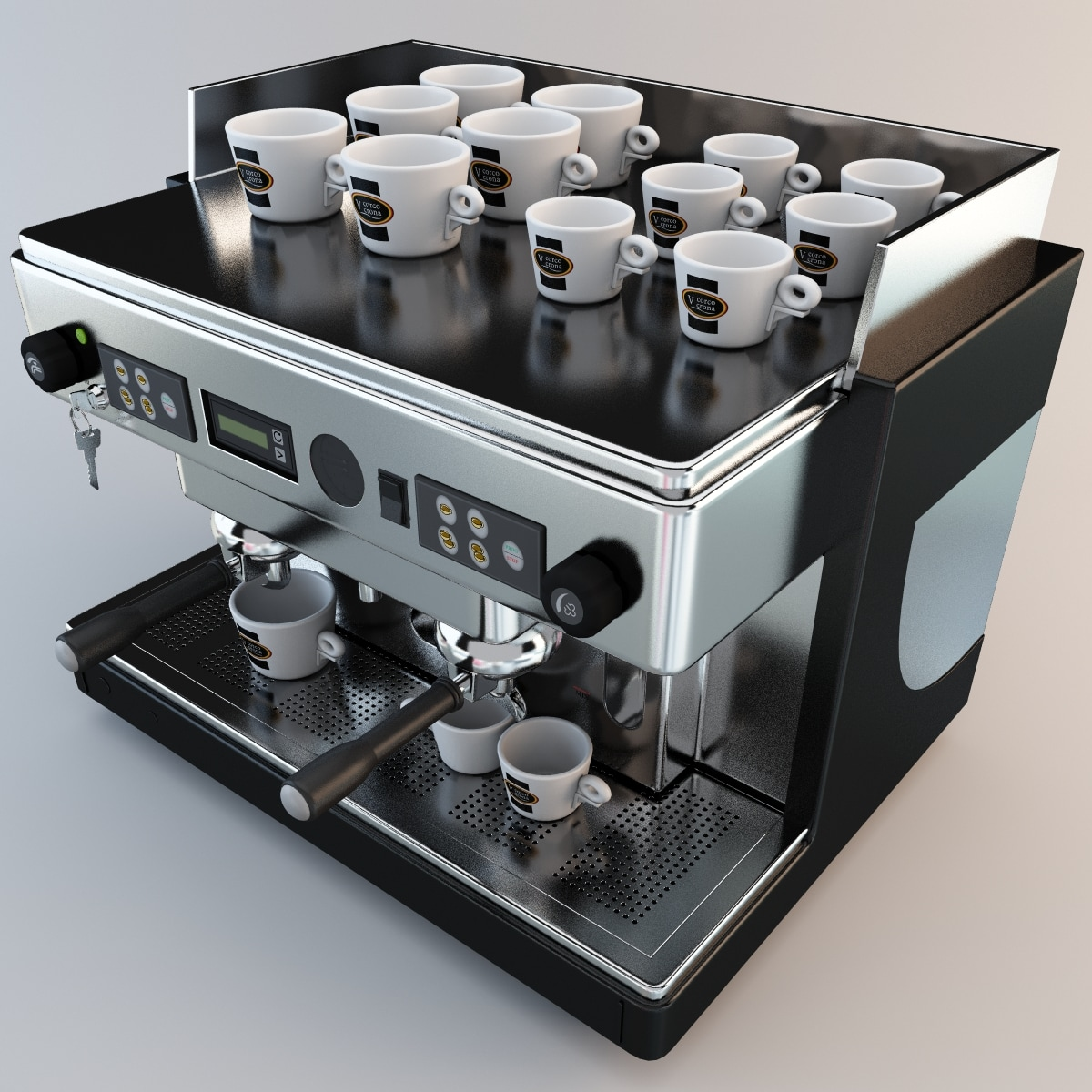 commercial coffee machine 3d max